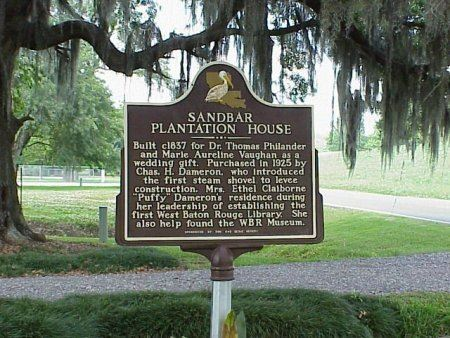 Sandbar Plantation House sign